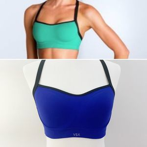 Victoria's Secret Sport VSX Angel Sports Bra Blue